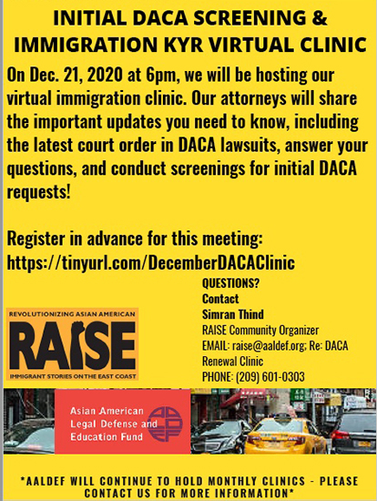 Image for Dec. 21 - AALDEF immigration/DACA clinic