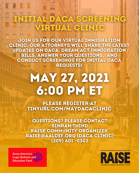 Image for May 27: Free virtual immigration clinic