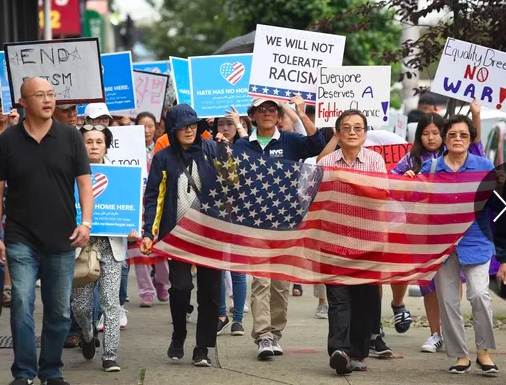 Image for Hundreds of Korean-Americans Protest Racist Rant From New Jersey Mayor's Mother