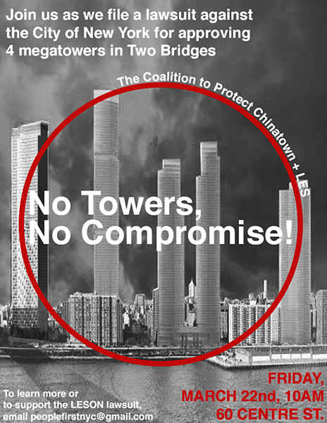 Image for AALDEF files lawsuit to block four residential towers on Manhattan's Lower East Side