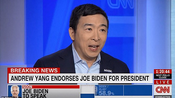 Image for Emil Guillermo: For AAPIs, Yang's Biden endorsement overshadows Sanders' mauling on night coronavirus wins--but Bernie has the last word