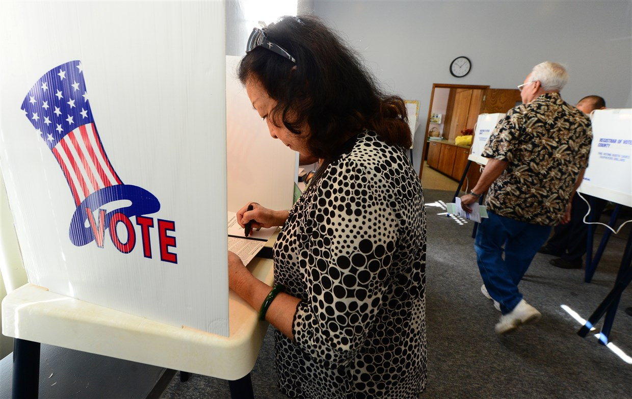 Image for NBC News: Federal law allows nearly anyone to translate for voters. At polls, it can be a different story.