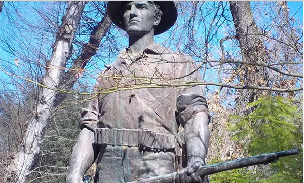 """Image for Emil Guillermo: George Floyd, racist monuments, and one in Minneapolis called """"The Hiker"""""""