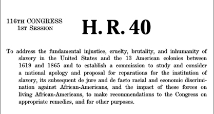 Image for AALDEF supports H.R. 40 to create commission to study slavery and discrimination against African Americans, make recommendations to Congress