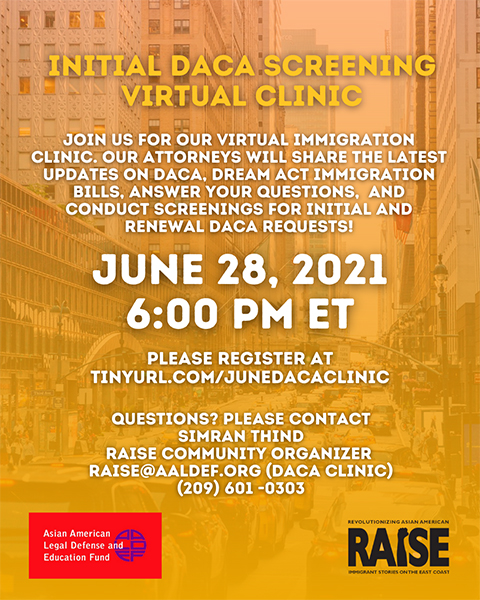 Image for June 28: Free virtual immigration clinic