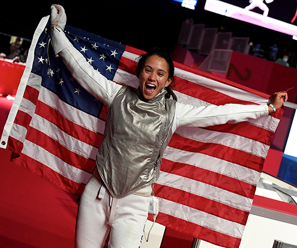 Image for Emil Guillermo: Asian American Filipina's Historic Gold, But Was it Right To Have Olympics? Plus: Kristina Wong and a Covid salon